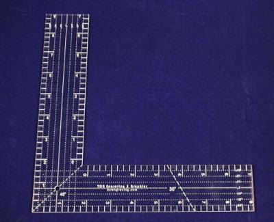"9"" L-Shaped Ruler. Acrylic 1/8"" thick. Quilting/Sewing - Acrylic"