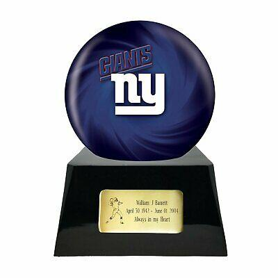 Large/Adult 200 Cubic Inch New York Giants Metal Ball on Cremation Urn Base
