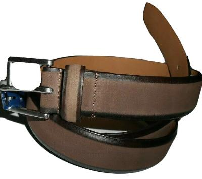 Cole Haan Hand-Burnished Brown Nubuck Leather Belt size 40 retail $80