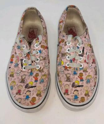 Youth Girls Size 2.5 Vans Authentic 2017 Peanuts Dance Party Pink Shoes A0811