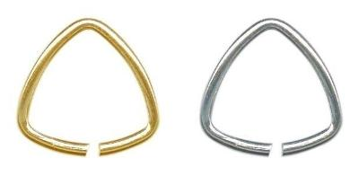 """Triangle Bails for Jewelry Making 9.5mm (3/8"""") each side ~ No Lead No Nickel"""
