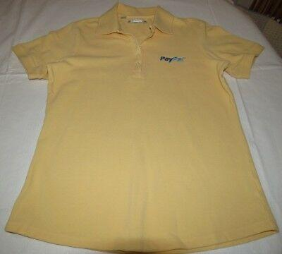 Cutter & Buck PayPal Yellow S juniors womens short sleeve polo shirt pre owned