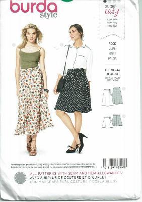 Burda Sewing Pattern 6340 Jupe Skirt Size 8-18