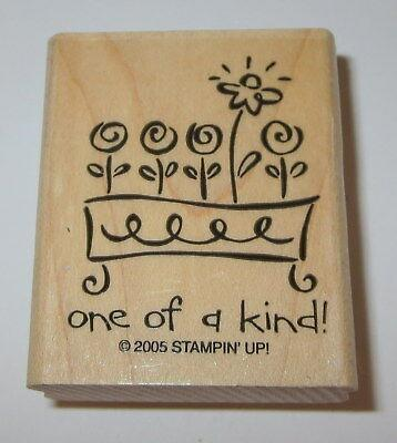 One Of A Kind Rubber Stamp Flowers Stampin' Up Flower Box Retired