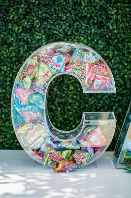 """20"""" Clear Acrylic Fillable Letters For Candy, Acrylic Candy Dispenser Letter"""