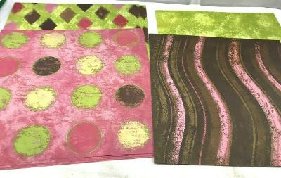 Set of 4 scrapbook papers acid ling free craft greeting altered art 12 x 12