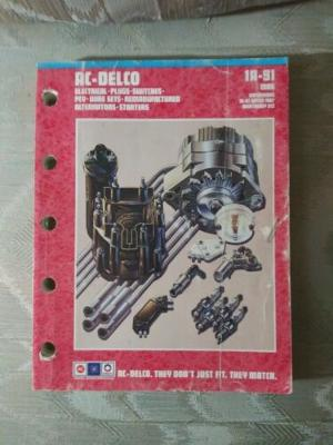 AC Delco 1A-91 1988 Parts Catalog Electrical Plugs Switches PCV Wire Sets...