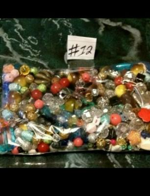 #12 Mixed Bag Unique Vintage High Quality Durable Jewelry Making Beads Supply