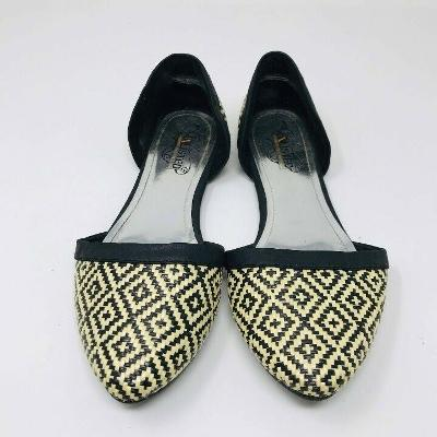 Unlisted Women Size 7 Woven Geometric Pointed Flats