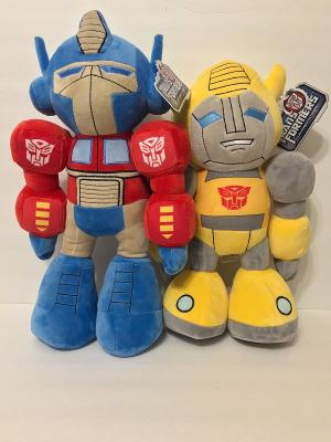"Universal Studios Transformers Ride 3-D 16"" Bumblebee & Optimus Prime Plush Set"