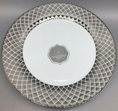 "x4 CIROA Luxe Metallic Silver Lattice Dinner Plate Set 11"" Christmas Holiday NEW"