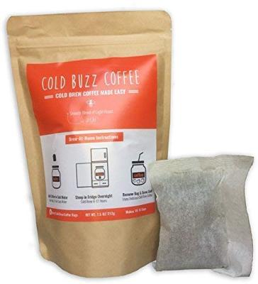 Decaf Cold Brew Iced Coffee (5-pack) | ColdBuzzCoffee Decaffeinated Bean Bag Pa