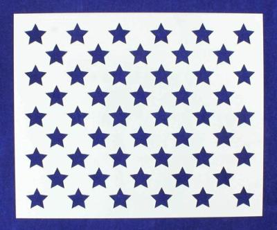 "50 Star Field Stencil 14 Mil -10 1/4""H x 12 1/2""W - Painting /Crafts/ Templates"
