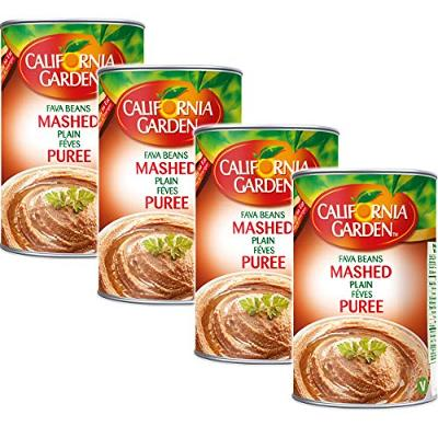 California Garden Strained Mashed Ground Fava Beans 450g (4 cans)