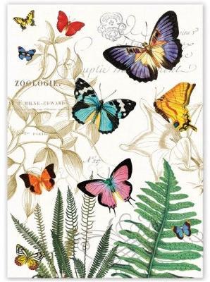 Michel Design Works Cotton Kitchen Tea Towel PAPILLON Butterflies Can B Hung New