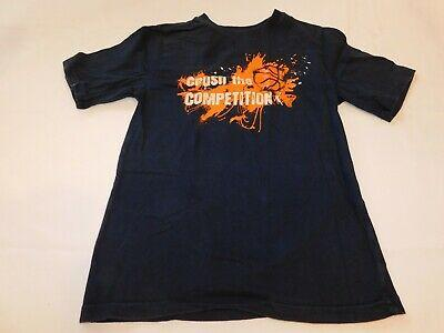 Athletic Works Youth Boys T Shirt Short Sleeve Size M 8 Navy Blue Competition