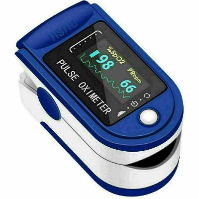 Finger Pulse Oximeter Blood Oxygen Saturation Heart Rate Measuring SpO2 Monitor