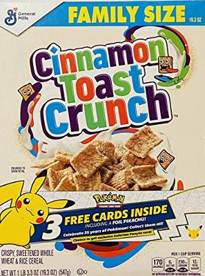 Cinnamon Toast Crunch Cereal Pokemon Cards 25th Anniversary Foil Pikachu Sealed