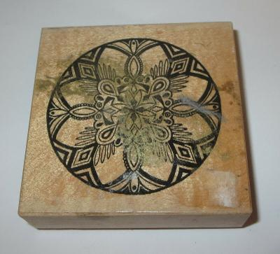 "Ornate Christmas Ornament Rubber Stamp PSX Ball Wood Mounted Rare 3"" High"