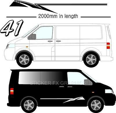 Graphic Decals Self Adhesive Vinyl Stickers Any Vehicle VW Campers Motorhome D41