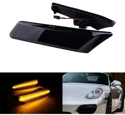 PORSCHE LED side Repeaters Smoked Amber for 911, Boxster, Cayman