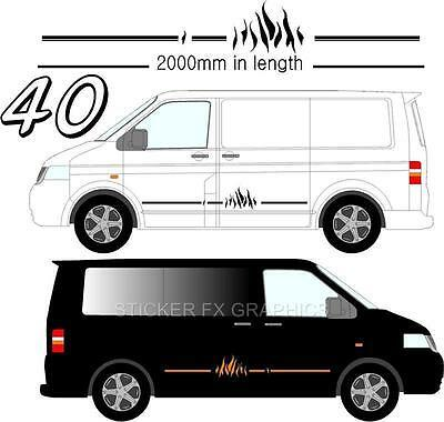 Graphic Decals Self Adhesive Vinyl Stickers Any Vehicle VW Campers Motorhome D40