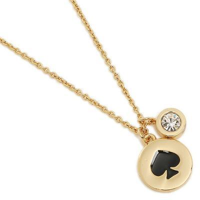 NWT KATE SPADE necklace BLACK SPOT THE SPADE O0RU1338