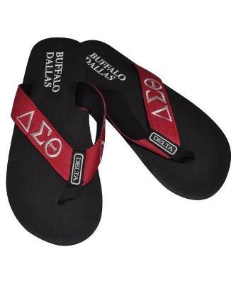 Delta Sigma Theta Flip Flop Slippers INDOOR POOL OUTDOOR Divine 9 flip flops