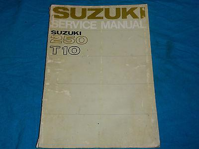1962 1963 1964 1965 1966 1967 67 SUZUKI T10 T 10 250 SHOP SERVICE REPAIR MANUAL