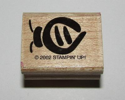 Bee Rubber Stamp Insect Stampin Up Retired Design Wood Mounted