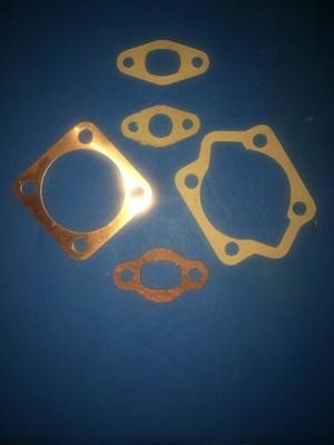 Base, Head, Intake, Exhaust Gaskets for 80cc 2 stroke Motorized Bicycle. COPPER