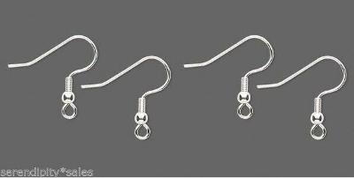 Wholesale 1,000 Silver Plated Ear Wires~Earrings w/ Bead + Coil SHINY No Nickel