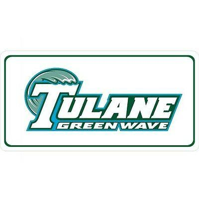 Tulane Green Wave Photo License Plate