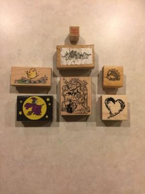 Holiday Rubber Stamps, Lot Of 7