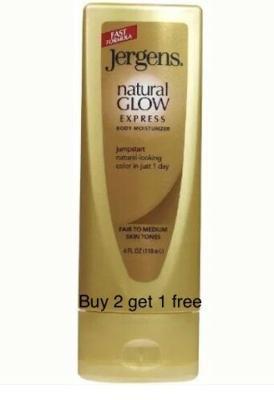 Jergens Natural Glow Express Body Moisturizer ~ Fair to Medium ~ 4 oz