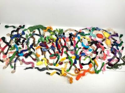 Lot of 100 Vintage NEW & Preowned Embroidery Flows Skeins JP Coats Boilfast
