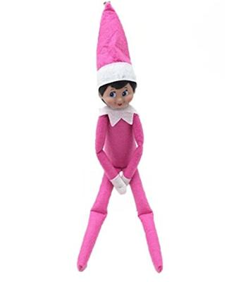 Elf On The Shelf Christmas Doll Blue Eyed Pink Outfit Girl