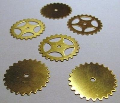 """MIXED Lot of 24 BRASS Watch GEARS~ 25mm/1"""" ~ SteamPunk ~12 Solid + 12 Open Style"""