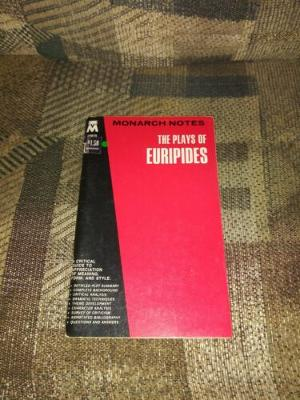 Monarch Notes The Plays Of Euripides 1966 Vintage Paperback 00829 VTG 19 Plays