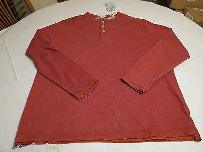 Tommy Bahama quick draw henley long sleeve shirt S cherry island modern fit Mens