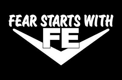 2 FEAR STARTS WITH FE DECALS V8 ENGINE 352-360-390-406-410-427-428 STICKERS
