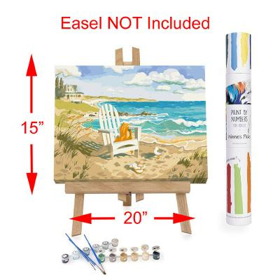 """Adult Paint By Numbers Acrylic Set Waiting for You 15"""" x 20"""" Winnie's Picks"""