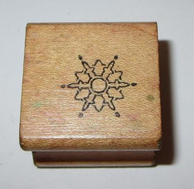 Snowflake Rubber Stamp Winter Snow Flake Wood Mounted #4 Embossing Arts