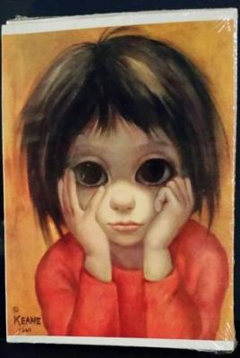 "BIG EYES Art Margaret Keane ""The Little Thinker"" 5 x 7 Frame-able Greeting Card"