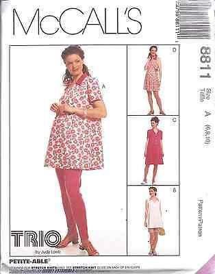 8811 UNCUT Vintage McCalls SEWING Pattern Maternity Top Rompers Leggings Loeb