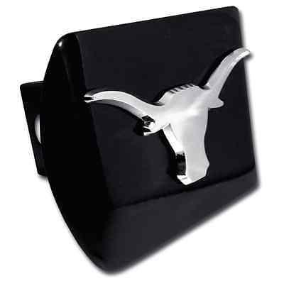Texas (Shiny Chrome Longhorn) Black Hitch Cover