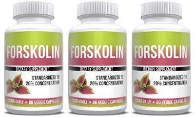 Forskolin Extract Pure Weight Loss 3X Bottles