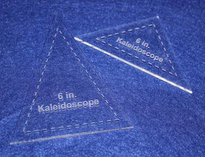 "2 Pc Set Kaleidoscope For 6"" Finished Square Acrylic 1/8"" thick Quilting/Sewing"