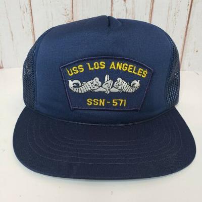 Vintage USS Los Angeles SSN-571 Navy Trucker Mens Hat