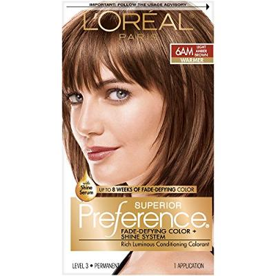 L'Oreal Paris Superior Preference Fade-Defying + Shine Permanent Hair Color, 6AM